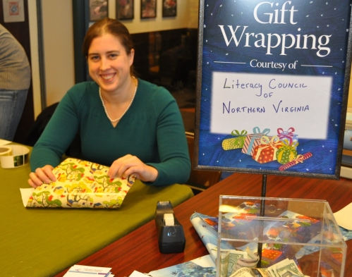 Sharon at Gift Wrapping