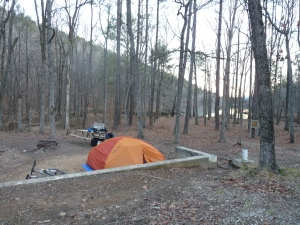 tent site in Oak Mountain State Park