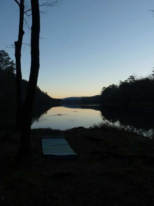 yoga mat at Oak Mountain State Park