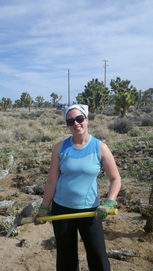 Sharon at Joshua Tree National Natural Landmark