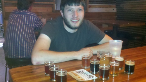 Flight at Barrio Brewing Company