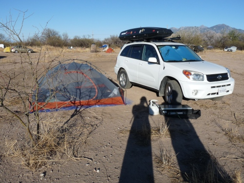 Sharon and Jay's campsite at Overland Expo
