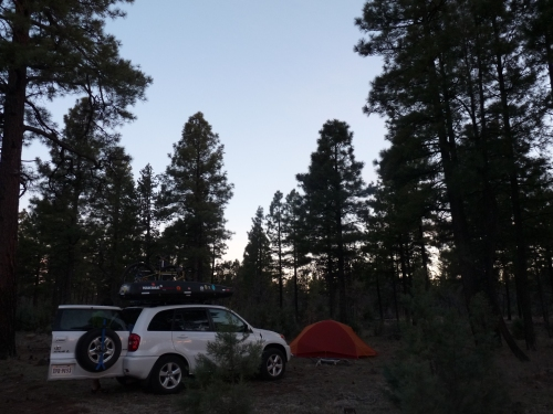 Camp site in Pinetop, Arizona