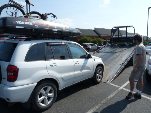 Rav4 being towed