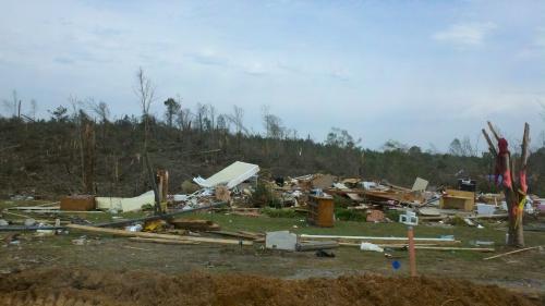 tornado damage in Hackleburg Alabama