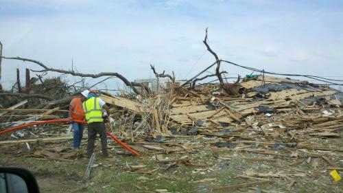 tornado damage in Hackleburg al