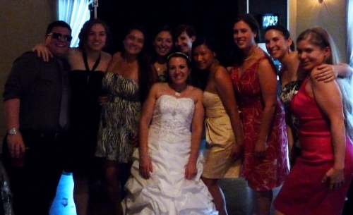 Madison Women's Rugby girls at Angela's wedding
