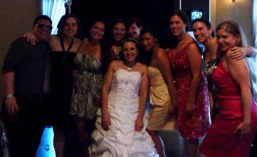 Madison Women's Rugby girls at Angela's wedding
