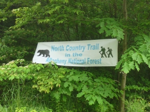 North Country Trail sign
