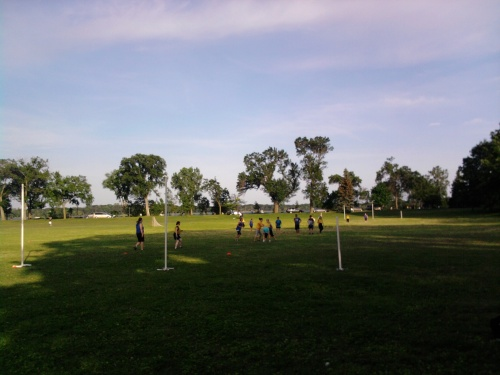Footy practice in Minneapolis