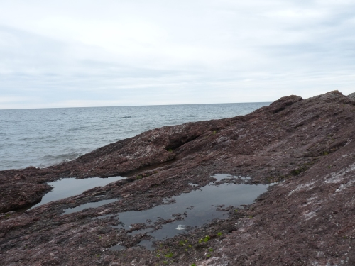 Rocky outcropping at Copper Harbor