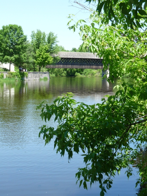 covered bridge over Speed River in Guelph
