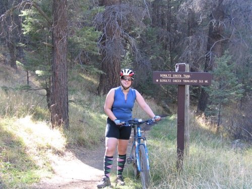 sharon on schultz creek trail