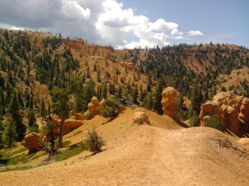 Trail through the hoodoos, thunder mountain trail, dixie national forest