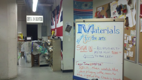 materials for the arts entrance