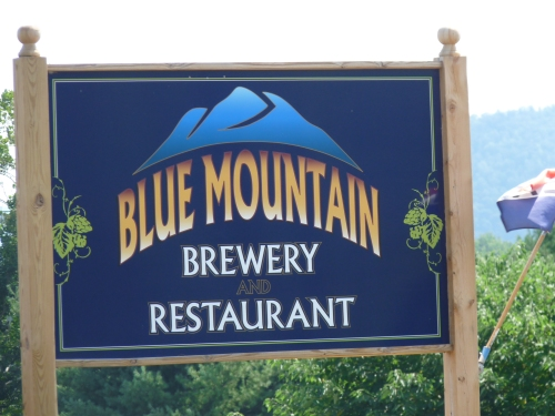 blue mountain brewery sign