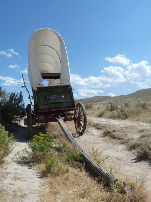 actual wagon ruts from Oregon Trail