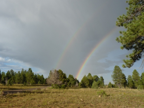 double rainbow in dixie national forest