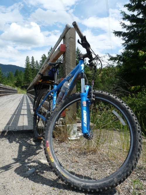 bike on Kettle Valley Rail Trail