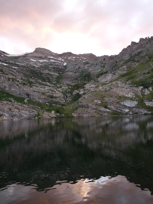 sunset at Angel Lake