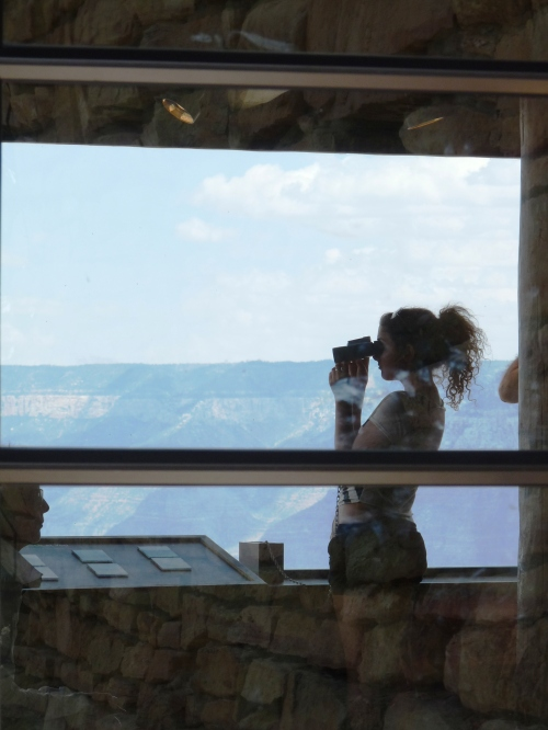 Grand Canyon girl at geology center