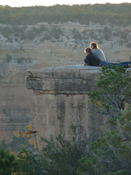 couple at sunrise Grand Canyon