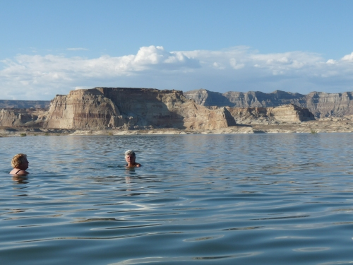 swimmers in Lake Powell