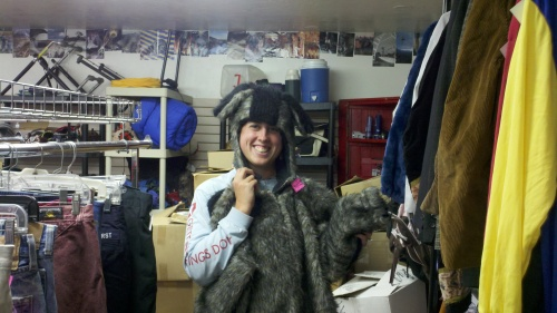 sharon in big bad wolf costume