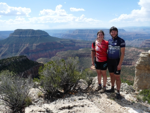 Sharon and Jay at Fence Point, overlooking Grand Canyon