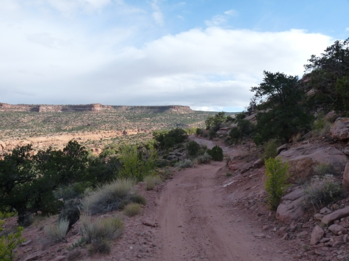 beginning of Porcupine Rim Trail