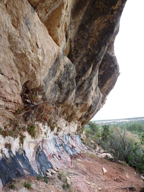 natural rock coloring near Cedar Mesa