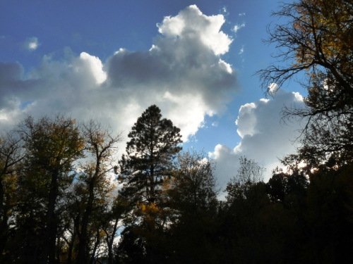 clouds over Indian Creek