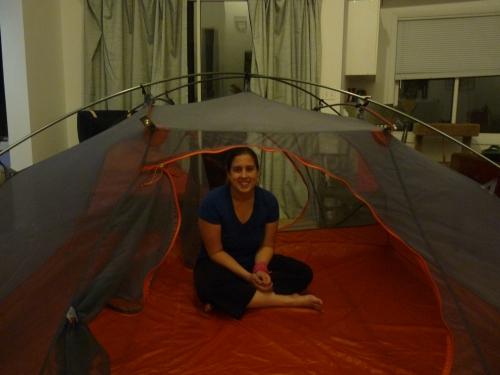 tent in living room