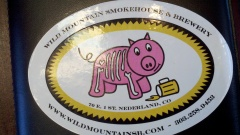sticker for Wild Mountain Smokehouse and Brewery