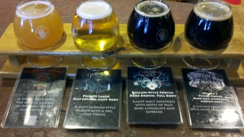 Sampler at Left Hand Brewery