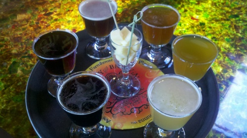 Sampler at Trinity Brewing