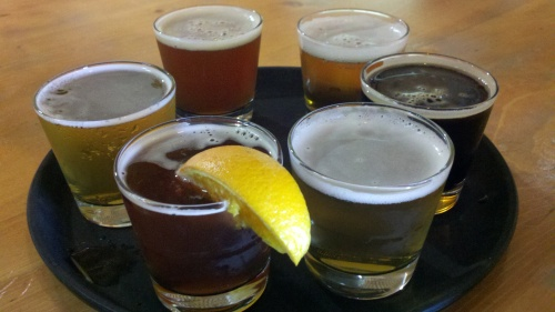 Sampler at Palisade Brewing