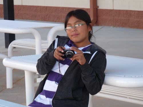 Wacey, one of the Chinle photography participants