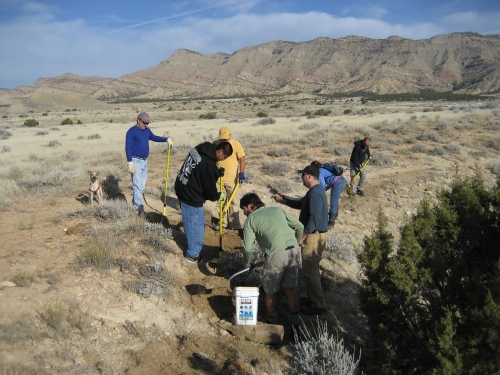 COPMOBA Crew working on Down Uppity Trail, Photo By Giselle Smith