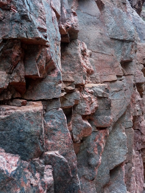 Schist, the walls of the inner gorge
