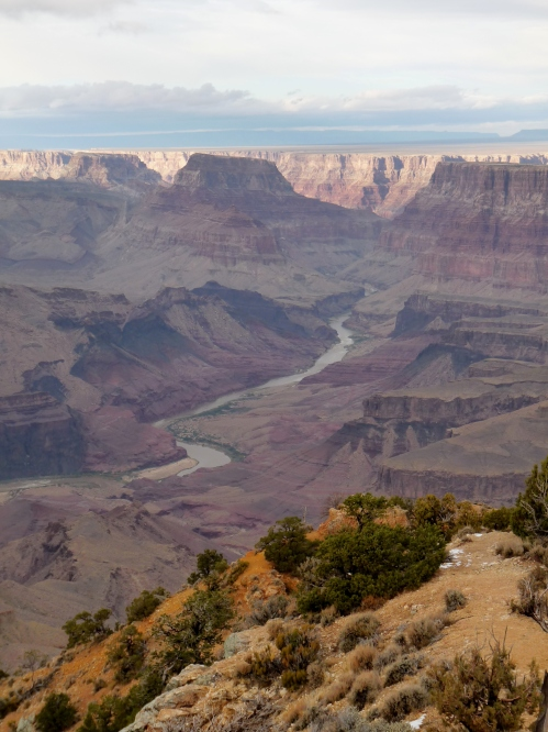 View of Colorado River from South Kaibab Trail