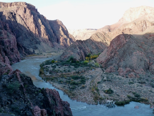 View from above of Phantom Ranch