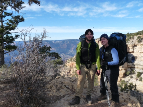 Jay and Sharon at the South Rim having completed our hike up the South Kaibab Trail