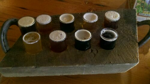 Sampler at Durango Brewery