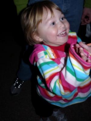 Laya's unbridled joy at the train park