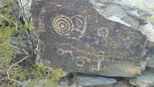 petroglyphs in South Mountain Park