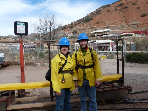 Sharon and Jay at copper queen mine