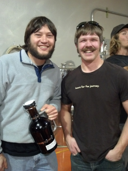 Jay with Wanderlust brew master Nathan Friedman